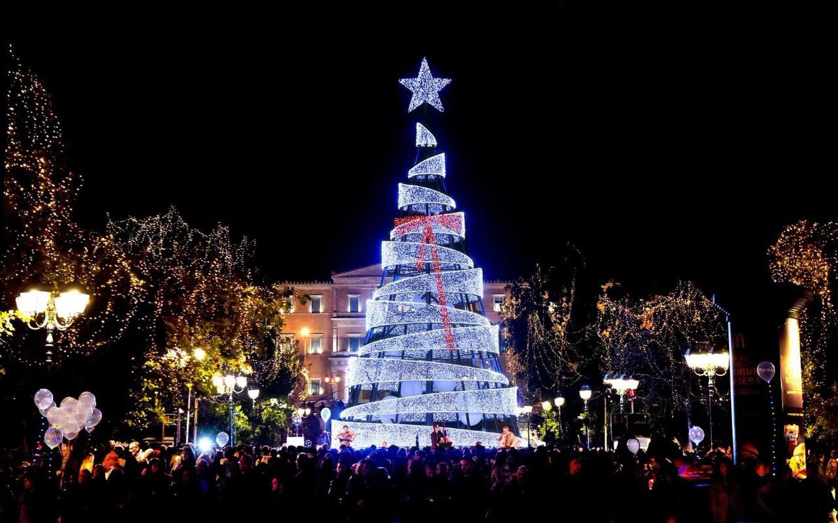 Christmas Tree in Syntagma square